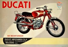 Original Vintage Posters -> Advertising Posters -> Ducati Motorcycles 100 Mountaineer - AntikBar