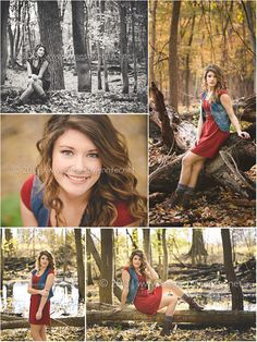 fall Outdoor Senior Portraits | Outdoor fall photos in the woods by Grand Rapids MI Senior Portrait ...