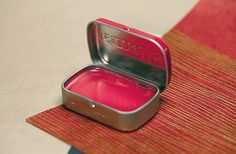 Use an empty Altoids tin as the container for your DIY lip balm.