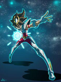 KNIGHTS OF THE ZODIAC by kitakazee Superhero Characters, Anime Characters, Pegasus, Cameleon Art, Korean Anime, Devian Art, Fanart, Aang, Pokemon