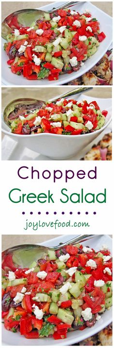 Chopped Greek Salad With Fresh Herbs Recipe — Dishmaps