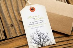 Sittin in a Tree - Save the Date Luggage Tag