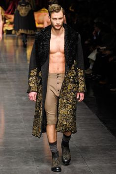 This is how I intend to lounge around my apartment from now on. From the Dolce & Gabbana Fall 2012 Runway.