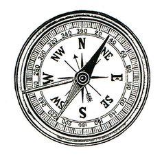 Compass Rubber Stamp WM