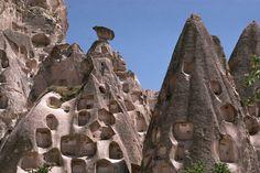 cliff dwellings, Turkey.