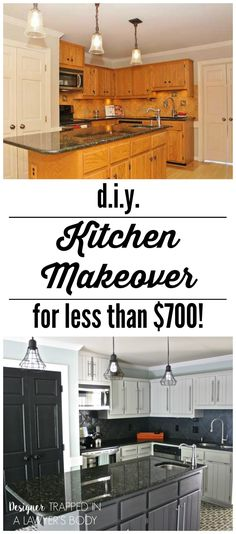 WOW!  Budget kitchen remodel by Designer Trapped in a Lawyer's Body.  Totally transformed with PAINT! \