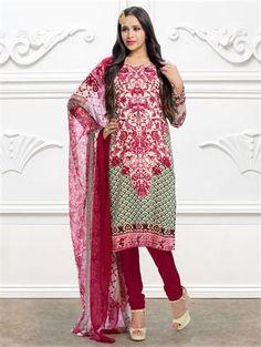 Latest Salwar Suits, Indian Suits, Print Chiffon, Daily Wear, Magenta, Pakistani, Kimono Top, How To Wear, Prints
