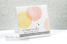 I like the strips on the bottom of the card...it really adds visual interest.