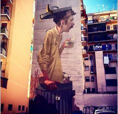 Streetart by ETAM Cru in Rome, (… – Graffiti 3d Street Art, Urban Street Art, Murals Street Art, Amazing Street Art, Art Mural, Street Art Graffiti, Street Artists, Banksy, Sidewalk Art