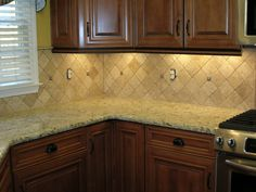Kitchen Backsplash Cherry Cabinets White Counter backsplash ideas for cherry cabinets | kitchen | pinterest
