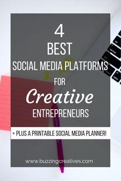 4 best social media platforms for Creative Entrepreneurs #creativepreneur