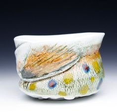 Rare Frost Ice Hand made Brook Trout Teabowl Wood by MarkChuck