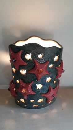 Lamp shade. Star fish. Ceramic hand made statue with hidden light fixture. sculpture