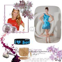 """Formal Aqua Blue Column One Shoulder Prom / Homecoming Dress Taffeta Hand Made Flowers Mini-length"" by quinceanera-fashionos on Polyvore"