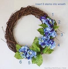 Making a spring wreath 2