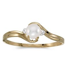 14k Yellow Gold Pearl And Diamond Ring (Size 6.5) Direct-Jewelry http://www.amazon.com/dp/B004HUU2P2/ref=cm_sw_r_pi_dp_y49.tb00EZ40J