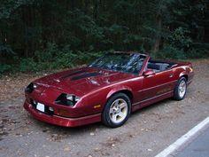 custom chevy camaro | 1988 Chevrolet Camaro IROC-Z convertible.