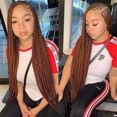 85 Box Braids Hairstyles for Black Women - Hairstyles Trends Lemonade Braids Hairstyles, Feed In Braids Hairstyles, Black Girl Braided Hairstyles, Black Girl Braids, Bandana Hairstyles, Braids For Black Hair, My Hairstyle, African Hairstyles, Black Women Hairstyles