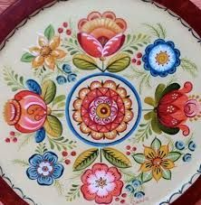 If you click the picture it takes you to a… Folk Art Flowers, Flower Art, Rosemaling Pattern, Norwegian Rosemaling, Tole Painting Patterns, Scandinavian Folk Art, Traditional Paintings, All Art, Art Decor