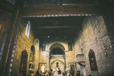 The beautiful Romanic church where the ceremony was held