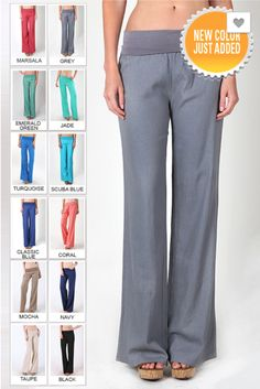 ****Use code REPLAUREN for 10% off PLUS FREE SHIPPING**** Fold Over Linen Pants from Closet Candy Boutique