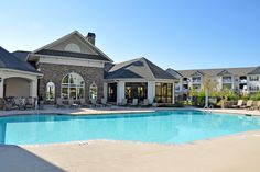Large pool at charlotte apartments in NC