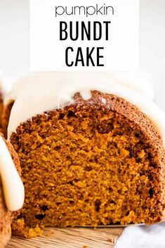 Soft and moist pumpkin bundt cake topped with a rich cream cheese frosting. #pumpkin #pumpkinrecipes #pumpkindesserts #pumpkincake #bundtcake #creamcheese #creamcheesefrosting #desserts #baking #cake #fall #fallrecipes #falldesserts #fallcakes #recipes #iheartnaptime Pumpkin Bundt Cake, Pumpkin Dessert, Delicious Desserts, Dessert Recipes, Savory Pumpkin Recipes, Fall Cakes, Caramel Recipes, Cake Toppings, Holiday Desserts