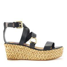 Calfskin Logan Espadrille - Sandals  Shoes - RalphLauren.com
