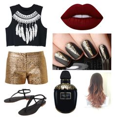 """""""Untitled #16"""" by tenuunl on Polyvore featuring Lanvin, WithChic, Cocobelle, Lime Crime and Alexander McQueen"""