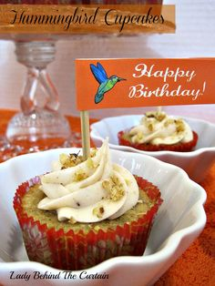 Lady Behind The Curtain - Hummingbird Cupcakes