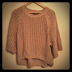 Tan Hi-Low Sweater Tan hi-low sweater that would go great with jeans or leggings and boots! Can be dressed up for a night out or can be worn for a more casual look! Worn maybe once, so it is in like new condition! (No pulls, rips, or stains!) Style & Co Sweaters Crew & Scoop Necks