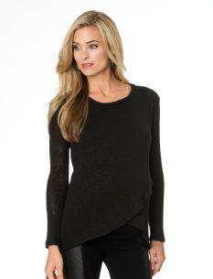 Sjobeck Long Sleeve Cross Front Maternity Sweater