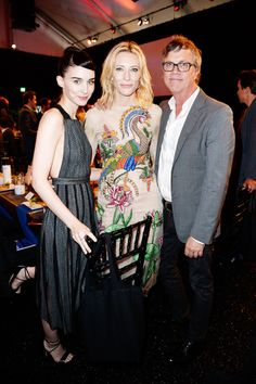 Rooney Mara, Cate Blanchett and director Todd Haynes attend the 2016 Film Independent Spirit Awards on February 27, 2016 in Santa Monica, California.