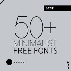 50 Best Free Fonts for Minimalist Designs - Fonts - Ideas of Fonts - 50 Best Free Fonts for Minimalist Designs Typography Logo, Graphic Design Typography, Lettering, Minimalist Graphic Design, Minimal Design, Minimalist Interior, Minimalist Living, Minimalist Decor, Web Design