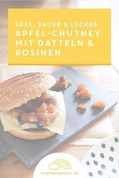 Apfelchutney Rezept mit Datteln und Rosinen - einfach gemacht! Eine perfekte Idee mit einer sü�-sauren Note, die super zu Fleisch und gebackenem Camembert passt. Oder eben als Dipp / Marinade - Lecker!