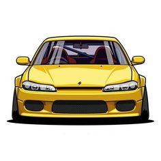 Tuner Cars, Jdm Cars, Nissan, Sports Car Wallpaper, Car Vector, Truck Art, Car Illustration, Japan Cars, Car Drawings