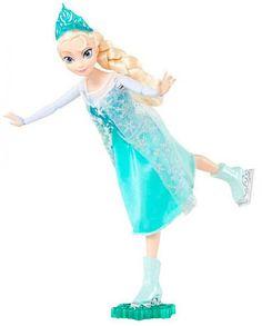 Muñeca Princesa Elsa patinadora 29 cm. Frozen: El Reino del Hielo. Mattel Estupenda muñeca patinadora y con todo lujo de detalles de la Princesa Elsa de Arandelle de 29 cm, fabricada en material de PVC y muy bien recreada, con ropa de tejido real, con complementos y 100% oficial y licenciada. Una delicia para todos los fans.