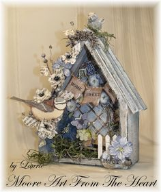Moore Art From The Heart: Prima Altered Metal Frame Birdhouse