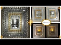DIY - DOLLAR TREE BLING WALL SCONCE (BLING QUEEN EDITION) BUDGET FRIENDLY - YouTube