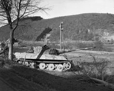 A Tiger II 'King tiger' of  the German Heavy tank Battalion 506 problably near Villers-la-Bonne-Eau south of Bastogne. This Heavy Tank Battalion took part in the Ardennes offensive as the only Tiger tank battalion from the regular German Army (Wehrmacht) in December 1944/January 1945.
