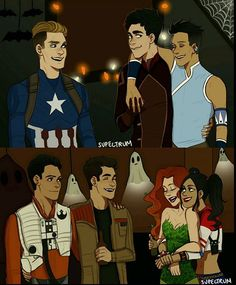 I just discovered this amazing Shadowhunters Halloween art from @su_pectrum and I'm just obsessed. How perfect the costumes are omfg