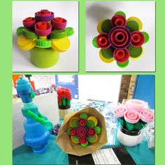Recyclage artistique, matière Plastique, bouchons - Plasticienne, Recyclage artistique, Bouchon en Plastique
