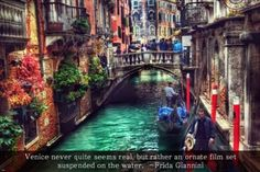 VENETIAN VIEW Inspirational Poster Quote 24X36 romantic ITALIAN gondola