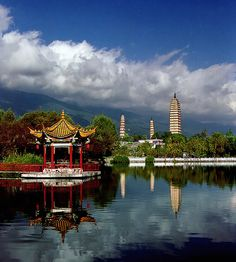 The Three Pagodas in Dali in China's Yunnan Province.