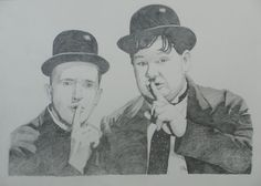 "Limited edition print, of comedy legends, Stan Laurel & Oliver Hardy, taken from my own drawing. The print measures 16.5""x11.5"" and is printed on high quality glossy paper. 