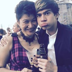 Duh Calum and my future mom in law <3