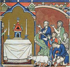 Maciejowski Bible, 1250 - candles