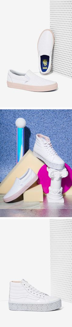 #OMGshoes - It's time to take a major step up and get down with these Nasty Gal x @Vans exclusives -  Nasty Gal x Vans Step Up Sk8-Hi Leather Platform Sneakers and the Get Down Classic Leather Slip-On Sneakers