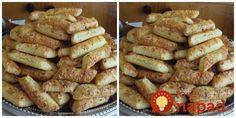 Chutné tyčinky z kyslej smotany: Toto ide u nás na dračku, aj 3 plechy sú málo! Slovak Recipes, Snack Recipes, Snacks, Fondant Cupcakes, Biscotti, Ham, Sausage, French Toast, Pizza