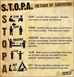 Important Steps To Take Towards Survival